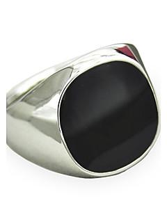 Homens Maxi anel Safira Gema Preto Natural Personalizado bijuterias Moda Vintage Estilo Punk Estilo simples Gema Liga Jóias Para Diário