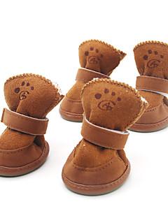 Köpekler Ayakkabılar ve Botlar Moda / Sıcak Tutma Kış / İlkbahar/Kış Solid Kahverengi / Pembe Pamuk