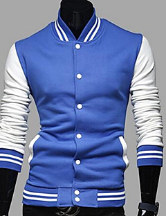 男性 カジュアル/普段着 カラーブロック ジャケット,ヴィンテージ / ストリートファッション ブルー / レッド / ブラック / グレイ コットン 長袖