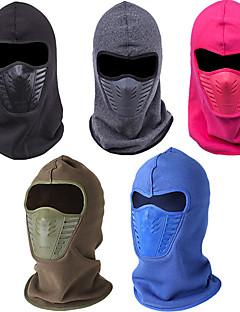 Esqui Máscaras de Esqui / Chapéu Unissexo Mantenha Quente / A Prova de Vento / Forro de Velocino Pranchas de Snowboard AlgodãoVermelho /