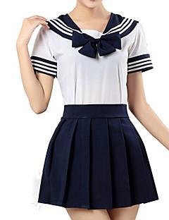geinspireerd door Sailor Moon Cosplay Anime Cosplaykostuums Cosplay Kostuums Gestreept  Korte mouw Hemd Rok Voor Unisex