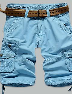 男性 ストレート スリム プラスサイズ チノパン ショーツ パンツ,カジュアル/普段着 ビーチ スポーツ シンプル ストリートファッション 活発的 ゼブラプリント ローライズ ジッパ- ボタン コットン マイクロ弾性 夏