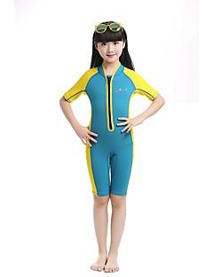 Bluedive Női Férfi Gyermek 2mm Nedves ruhák Dive Skins Rövid szörfruhaMelegen tartani Gyors szárítás Ultraibolya biztos Cipzár YKK Zipper