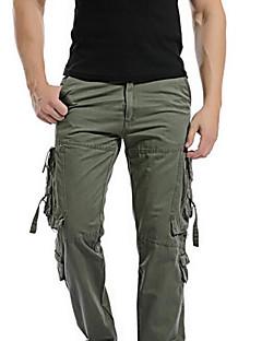 Masculino Vintage Cintura Média Inelástico Jeans Calças,Solto Sólido