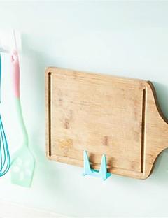 2pcs espantoso plástico cozinha panela pan cobrir shell cobrir sucker ferramenta suporte rack de alta qualidade