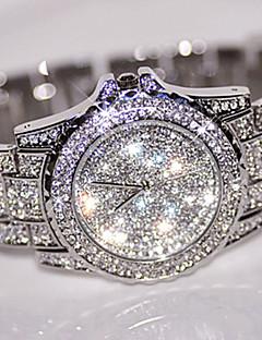 Női Ruha óra Divatos óra Karóra Egyedi kreatív Watch Szimulált Gyémánt Karóra Ékszeróra Kínai Kvarc / Strassz Rozsdamentes acél Zenekar
