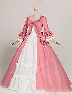 Yksiosainen/Mekot Gothic Lolita Lolita Cosplay Lolita-mekot Vaaleanpunainen Vintage Holkki Pitkähihainen Täysipitkä Leninki varten Muuta