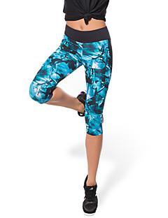 Mulheres Leggings de Corrida Secagem Rápida Respirável Compressão Materiais Leves Elástico Roupas de Compressão 3/4 calças justas