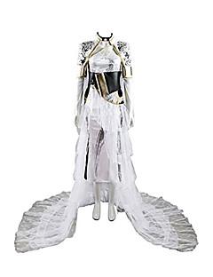 Inspireret af Final Fantasy Cosplay video Spil Cosplay Kostumer Cosplay Kostumer Helfarve Langærmet Kjoler Talje Tilbehør