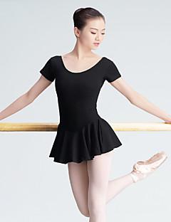 Балет Балетное трико Жен. Учебный Хлопок 1 шт. Короткий рукав Завышенная талия трико