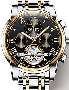 Férfi mechanikus Watch Automatikus önfelhúzós Rozsdamentes acél Zenekar Ezüst