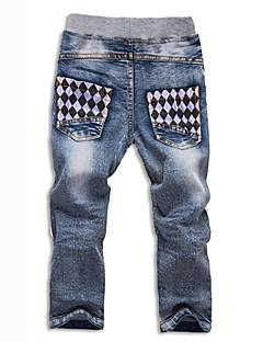 Gutt Jeans Cartoon Trykt mønster Bomull Alle årstider