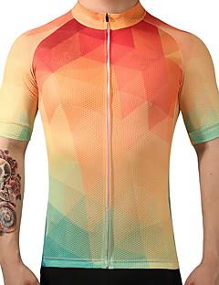 FUALRNY® Camisa para Ciclismo Homens Manga Curta Moto Camisa/Roupas Para Esporte Secagem Rápida Respirabilidade 100% Poliéster Verão