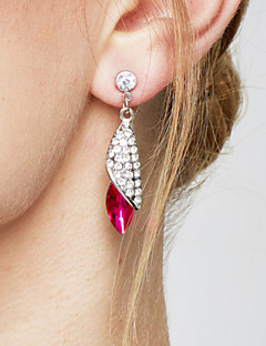 Mulheres Brincos Compridos Elegant bijuterias Moda Bijuterias Destaque Cristal Liga Caído Jóias Para Festa Aniversário Diário