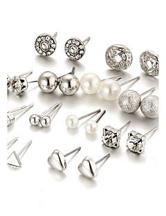 Damen Ohrstecker Kristall Imitierte Perlen Strass Modisch Elegant Bling Bling Krystall Künstliche Perle AleaciónRunde Form Herzform