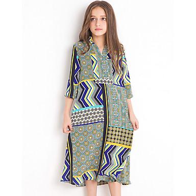 5024011a3bd Χαμηλού Κόστους Ρούχα για Κορίτσια-Παιδιά Κοριτσίστικα Μπόχο Καθημερινά  Γεωμετρικό Στάμπα 3/4 Μήκος