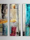 Peint a la main Abstrait Verticale,Moderne Style europeen Trois Panneaux Peinture a l\'huile Hang-peint For Decoration d\'interieur