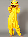 kigurumi Pyjamas Pika Pika Collant/Combinaison Fete / Celebration Pyjamas Animale Halloween Jaune Mosaique Polaire Kigurumi Pour Unisexe