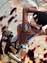 Inspire par L\'Attaque des Titans Levy Manga Costumes de Cosplay Costumes Cosplay Couleur Pleine Manches LonguesCache-col Manteau Chemise