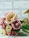 """Fleurs de mariage Rond Roses Bouquets Mariage Rose Satin 5.51""""(Env.14cm)"""