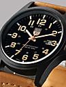 Bărbați Ceas Elegant Ceas La Modă Ceas de Mână Quartz Calendar Piele Bandă Casual Maro Verde Khaki
