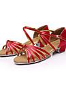 """soare Lisa femei salsa Latină și sandale copii """"chunky heel satin pantofi de dans cataramă (mai multe culori)"""