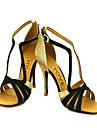 Chaussures de danse(Noir Bleu Jaune Rose Violet Rouge Blanc Fuchsia) -Personnalisables-Talon Personnalise-Satin-Latine Salsa Salon