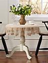 Rotund Cu model Fețe de masă , 100% Bumbac Material Nunti Nunta decorare Party Tabelul Dceoration 1