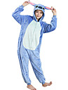 kigurumi Pyjamas Dessin-Anime Collant/Combinaison Fete / Celebration Pyjamas Animale Halloween Bleu MosaiqueCostumes de Cosplay Pour