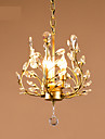 Lustre ,  Contemporain Lanterne Rustique Peintures Fonctionnalite for Cristal MetalSalle de sejour Bureau/Bureau de maison Entree Couloir