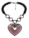 Pentru femei Coliere cu Pandativ Heart Shape Design Unic Personalizat Roz Bijuterii Pentru 1 buc