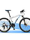 Velo tout terrain Cyclisme 27 Vitesse 27 pouces Microshift 24 Frein a Double Disque Fourche de suspension Cadre en Alliage d\'Aluminium