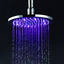 abordables Cabezas de Ducha-Moderno Ducha lluvia Cromo Característica - Efecto lluvia LED, Alcachofa de la ducha