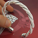 cheap Bracelets-Women's - Sterling Silver Cuff Bracelet Silver For Wedding Party Special Occasion