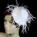 ieftine Puzzle Lemn-Cristal Pană Material Textil Catifea Diademe Palarie 1 Nuntă Ocazie specială Party / Seara Diadema