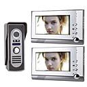 billige Dørtelefonssystem med video-7 tommers TFT LCD-video dør telefon system (1 kamera med to monitor)