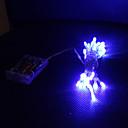 hesapli LED Şerit Işıklar-3M Dizili Işıklar 30 LED'ler Dip Led Mavi