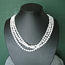 preiswerte Kappenlos-Weiß Perle Halskette - Sterling Silber Modische Halsketten Schmuck Für Party, Jahrestag, Geburtstag / Geschenk / Alltag
