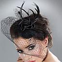 preiswerte Parykopfbedeckungen-Tüll / Feder Fascinatoren mit Federn / Pelzl 1pc Hochzeit / Besondere Anlässe Kopfschmuck