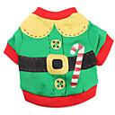billige Glødelampe-Kat Hund Kostume Trøye/T-skjorte Hundeklær Fargeblokk Rød Grønn Bomull Kostume For kjæledyr Herre Dame Søtt Cosplay