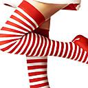 זול תחפושות מהעולם הישן-גרביים וגרביונים בגדי ריקוד נשים חג המולד האלווין (ליל כל הקדושים) ראש השנה פסטיבל / חג כותנה תלבושות אדום ולבן