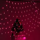 halpa Lamppu Pohjat ja liittimet-festivaali koristelu 120-johtoiseen 8 moodin vaaleanpunainen valo net lamput osapuoli puutarha-aita (220v)