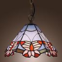 povoljno Viseća rasvjeta-Tiffany privjesak svjetla s leptir uzorkom