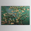זול ציורי פרחים/צמחייה-ציור שמן צבוע-Hang מצויר ביד - מפורסם מסורתי בַּד