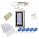 cheap Video Door Phone Systems-Metal Waterproof Access Controller Kits(Electric Bolt,10 EM-ID Card,Power Supply)