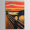voordelige Abstracte schilderijen-Hang-geschilderd olieverfschilderij Handgeschilderde - Beroemd Hedendaags Kangas