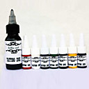 billige professionel tatovering kits-Compass Tattoo Ink 1 x 30 ml Professionel - Rød / Sort / Blå