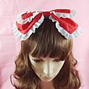 cheap Lolita Dresses-Lolita Jewelry Sweet Lolita Dress Headwear Princess Women's Black Red Blue Pink Lolita Accessories Solid Bowknot Headpiece Cotton