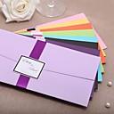 """זול הזמנות לחתונה-מקופל הזמנות לחתונה 20 - כרטיסי הזמנה סגנון קלאסי נייר כרטיסים 8 ½""""×4 ½"""" (21.5*11.5ס""""מ) רצועות"""