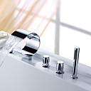 رخيصةأون حنفيات مغاسل الحمام-يرش من قبل lightinthebox ® - شلال صنبور الحوض مع دش اليد (تصميم منحني الشكل)